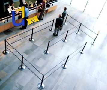 Atitvarų, barjerų, stovų su juostomis ir virvėmis prekyba ir nuoma