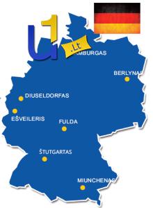 Darbas prie palečių remonto Vokietijoje